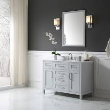 ove decors tahoe 48 inch x 21 inch x 34 5 inch pebble grey freestanding bathroom vanity with mirror
