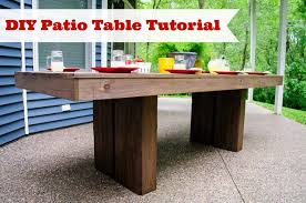 DIY Patio Table Tutorial from Decor and the Dog