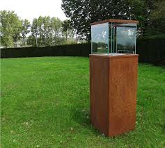 Cor ten steel Weathering Steel Cortenstaal Column Large Zahner Webshop Corten Steel Fireplaces Cortenstaal Column Large Bioblaze