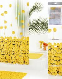 fun fruits pattern yellow unique shower curtains