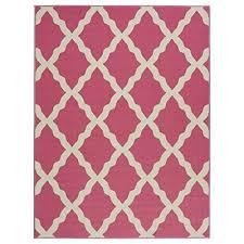 contemporary moroccan trellis design kids rug mat 3 3 x 5 0 pink 849928023636