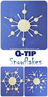 These Q-tip snowflake crafts are great for fine motor skills - Winter &  Christmas