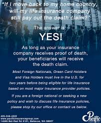 a monly asked question if i move back to my country will the life insurance pany still pay out the claim the answer is yes