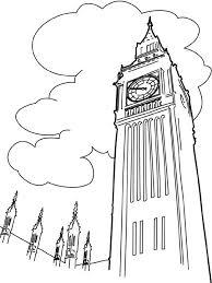 Big Ben Londen Kleurplaat Jouwkleurplaten