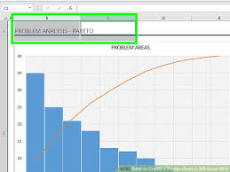 Create A Chart In Excel 2010 How To Create A Pareto Chart In Ms Excel 2010 14 Steps