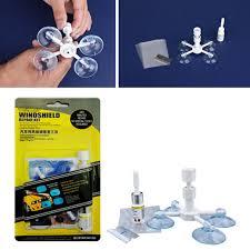 car windscreen glass repair diy glue resin chip repairing tool holder kit