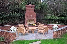 brick outdoor fireplace photos