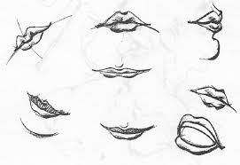 how to draw human mouths and lips