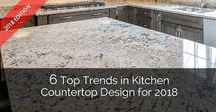 6 top trends in kitchen design for home remodeling contractors build countertop materials comparison chart