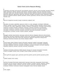 Verb List For Resumes 09 02 10 Action Verb List For Resume Writing