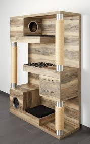 modern cat tree furniture. now this is a cat tree the catframe combines contemporary wood sisal rope scratching posts cubby holes soft pads for kneading and sleeping modern furniture
