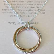 tricolor six entwined rings necklace with meaning
