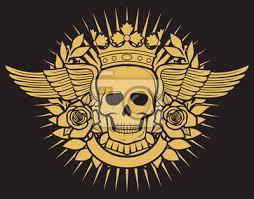 Fototapeta Lebka Symbol Tetování Design Korunka Vavřínový Věnec Křídla