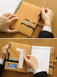 binder man leather genuine leather leather present made in brit house system notebook a5 size king