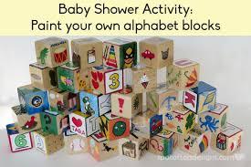 Baby Shower activity: Paint your own alphabet block | spotofteadesigns.com