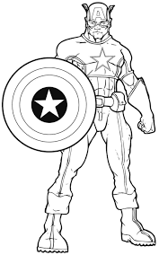 Small Picture Captain America Coloring Pages In Free Printable America Coloring