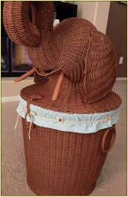 classy brown rattan Elephant Wicker Hamper for best laundry room|clothes  storage furnishing your cute