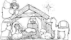 Free Nativity Coloring Pages Printable Nativity Coloring Pages To