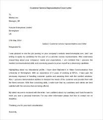 Cover Letter For A Customer Service Job Cover Letter For Hr Customer Service Representative