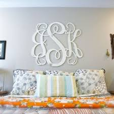 Unfinished Wooden 3-Alphabet Letter Vine Monogram Wall Decor Paintable  Cutout DIY Craft Wall Decor | Home Decor | Pinterest | Monogram wall, ...