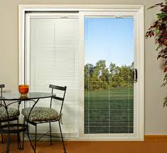 single french patio door with blinds hd