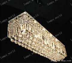 modern rectangular crystal chandelier dining room length 100cm led intended for incredible household rectangle crystal chandelier prepare