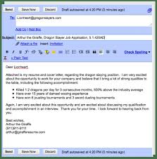 Examples Of Email Cover Letters For Resumes Examples Of Email Cover