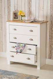 country white bedroom furniture. Retro Country Style 4 Drawer Chest White Bedroom Furniture | Maxi I