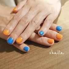 紗巴美 On Twitter ビビットなオレンジとアクアブルーのコントラストが