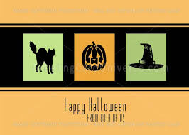 Halloween Business Cards Happy Halloween Business From All Of Us Card Orange Black