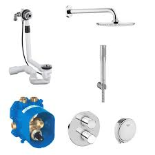 grohe grohtherm 3000 cosmopolitan bath and shower solution pack 4