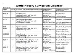 curriculum template curriculum calendar or map template by michele lucks social studies