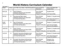 curriculum template curriculum calendar or map template by michele lucks social studies
