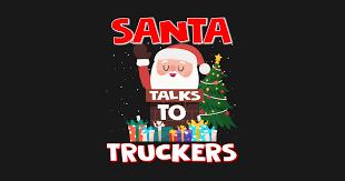 santa talks to truckers gift trucker gifts tapestry