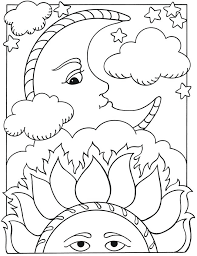 half moon coloring page sun and moon coloring pages welcome to publications lets color together sun