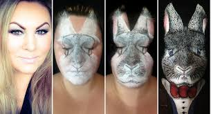 easter 2017 make up artist transforms herself into amazingly lifelike bunny rabbit