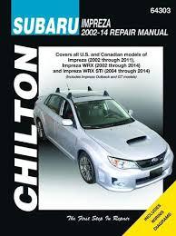 amazon com chilton repair manual 64303 subaru impreza 2002 2011 chilton repair manual 64303 subaru impreza 2002 2011 wrx 2002