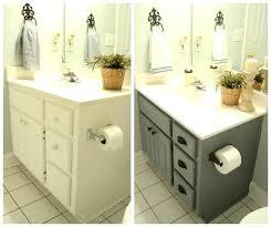 painting old bathroom cabinets repainting bathroom cabinets painted bathroom cabinet before after diy chalk painting bathroom