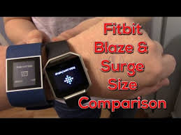 Fitbit Alta Wrist Size Chart Fitbit Blaze And Surge Size Comparison On The Wrist Youtube