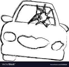 Figure crash car and dangerous automobile accident vector image