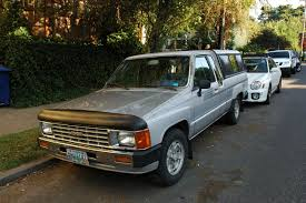 OLD PARKED CARS.: 1986 Toyota Turbo Xtracab SR5 Pickup.