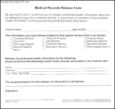 Medical Record Release Letter Medical Records Release Request Template Electronic For