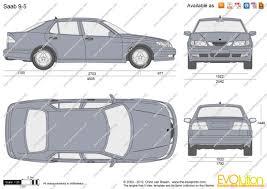 The-Blueprints.com - Vector Drawing - Saab 9-5