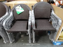 Furniture Resin Wicker Bistro Chairs Costco Stacking Outside