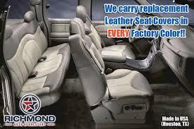 2001 2002 gmc sierra denali c3 leather seat cover driver bottom 2 tone tan