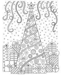 黒と白のパターンを落書きクリスマスの装飾クリスマス ツリープレゼント雪やのぼりお祭りの雰囲