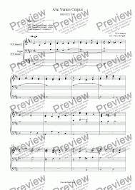 ave verum corpus sheet music ave verum corpus organ solo download sheet music pdf