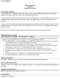 Consultant Cv It Consultant Cv Example Icover Org Uk