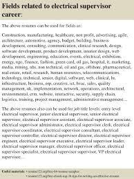 Sample Resume For Electrician Impressive Top 48 Electrical Supervisor Resume Samples