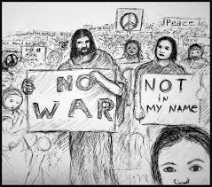 Kevin Larmee_anti-war art_antiwar__jesus_Protester.jpg Drawing by Kevin  Larmee | Artmajeur